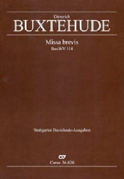 Dietrich Buxtehude - Missa Alla Brevis Buxwv 114 - Partition - di-arezzo.fr
