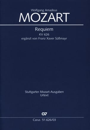MOZART - Requiem Kv 626. - Partition - di-arezzo.fr