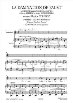 BERLIOZ - Of love The fiery flame. The Damnation of Faust - Sheet Music - di-arezzo.co.uk