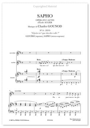 Charles Gounod - Glycère Ici ! Que Cherche-T-Elle ? Sapho - Partition - di-arezzo.fr