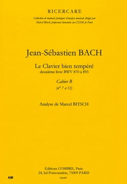 Bach Jean-Sébastien / Bitsch Marcel - The Well Tempered Key Book 2 Notebook B. Analysis - Book - di-arezzo.co.uk