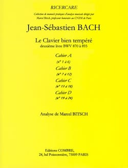 Bach Jean-Sébastien / Bitsch Marcel - Le Clavier Bien Tempéré Livre 2 Cahier A. Analyse - Livre - di-arezzo.fr