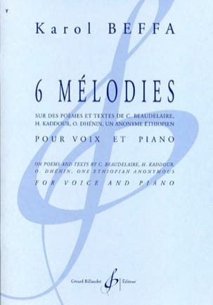 Karol Beffa - 6 melodies - Sheet Music - di-arezzo.co.uk