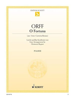 Carl Orff - O Fortuna - Sheet Music - di-arezzo.com
