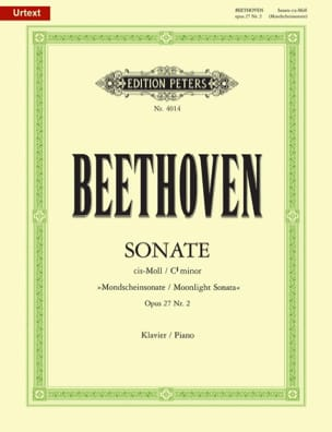 BEETHOVEN - Sonate pour piano n° 14 en ut dièse mineur Opus 27 n° 2 - Partition - di-arezzo.fr