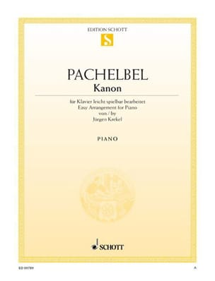Johann Pachelbel - Kanon - Partition - di-arezzo.co.uk