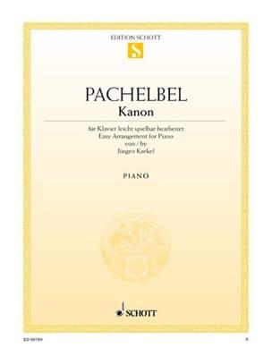 Johann Pachelbel - Kanon - Partition - di-arezzo.fr