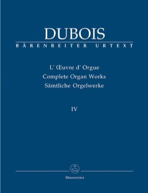 Théodore Dubois - Oeuvre D'orgue. Volume 4 - Partition - di-arezzo.fr