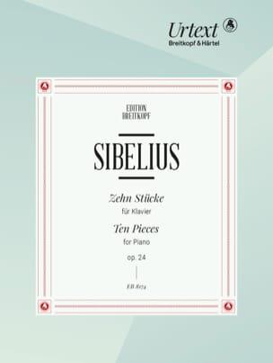 10 Stücke Op. 24 - Jean Sibelius - Partition - laflutedepan.com