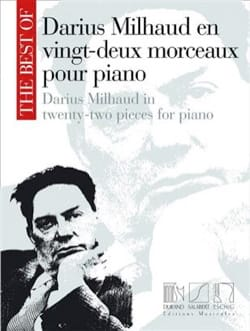 Darius Milhaud - 22 Morceaux Pour Piano - Partition - di-arezzo.fr