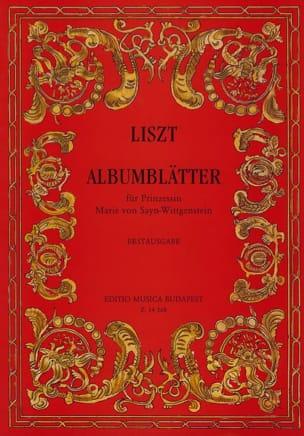 Franz Liszt - Albumblätter Der Princessin Marie Von Sayn- Wittgenstein. - Partition - di-arezzo.fr