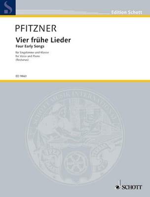 4 Frühe Lieder - Hans Pfitzner - Partition - laflutedepan.com