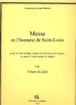 Albert Alain - Messe Pour Saint-Louis - Partition - di-arezzo.fr