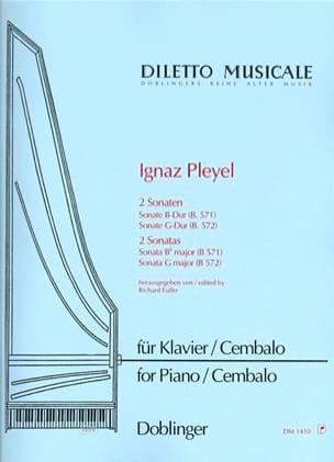 2 Sonaten B 571 et 572 - Ignaz Pleyel - Partition - laflutedepan.com