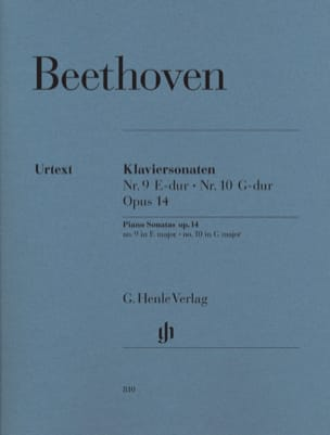 BEETHOVEN - Sonate per pianoforte n. 9 e n. 10 Op. 14 - Partitura - di-arezzo.it