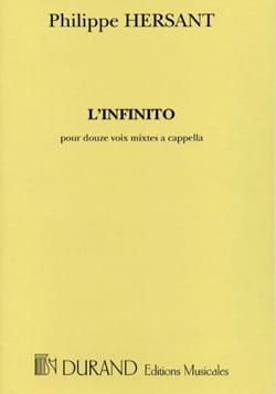 Philippe Hersant - The infinito - Sheet Music - di-arezzo.co.uk