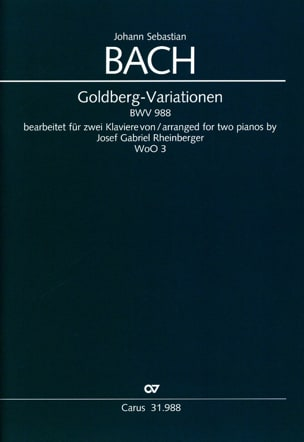 BACH - Goldberg-Variationen BWV 988. 2 Pianos - Partition - di-arezzo.fr