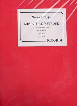 Marco Stroppa - Miniature Estrose - Sheet Music - di-arezzo.co.uk