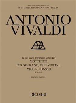 VIVALDI - O Which Coeli Terraeque Serenita RV 631. Driver - Sheet Music - di-arezzo.co.uk