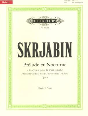 Alexander Scriabine - Prélude et Nocturne Opus 9. - Partition - di-arezzo.fr