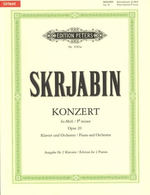 Alexander Scriabine - Concerto pour piano en fa dièse mineur Opus 20. - Partition - di-arezzo.fr