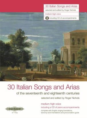- 30 Italienische Lieder Und Arien des 17. Und 18. Jahrhunderts. Voix Haute - Partition - di-arezzo.fr