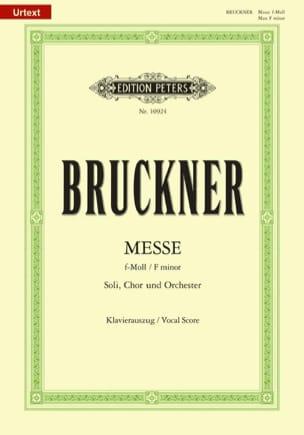 Anton Brückner - Fa Minor Mass - Sheet Music - di-arezzo.com
