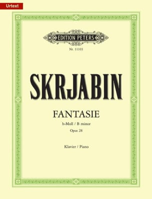 Fantaisie Opus 28. SCRIABINE Partition Piano - laflutedepan