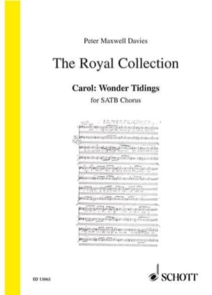 Davies Peter (Sir) Maxwell - Wonder Tidings - Sheet Music - di-arezzo.co.uk