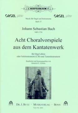 BACH - 8 Choralvorspiele Aus Dem Kantatenwerk - Partition - di-arezzo.fr