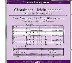 Requiem. CD Alto FAURÉ Partition Chœur - laflutedepan