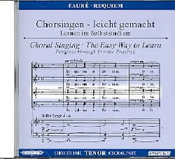 Requiem. CD Ténor Gabriel Fauré Partition Chœur - laflutedepan