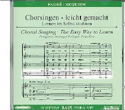 Requiem. CD Basse FAURÉ Partition Chœur - laflutedepan