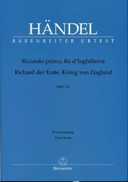 Riccardo Primo, Re D'Inghilterra. HWV 23 HAENDEL laflutedepan