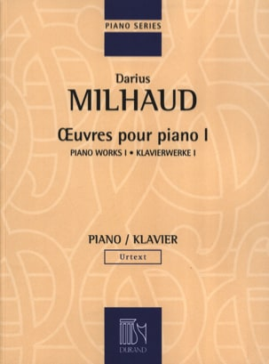 Oeuvres pour Piano - Volume 1 MILHAUD Partition Piano - laflutedepan