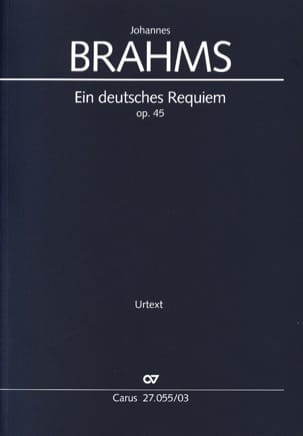 BRAHMS - Ein Deutsches Requiem Opus 45 - Partition - di-arezzo.fr