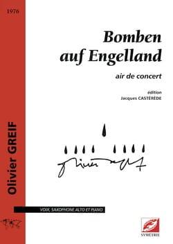 Olivier Greif - Bomben Auf Engelland - Partition - di-arezzo.fr