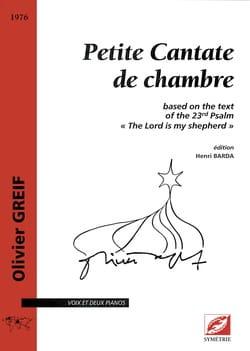 Petite Cantate de Chambre - Olivier Greif - laflutedepan.com