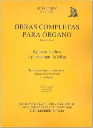 José Lidon - Obras Completas Vol 1 - Partition - di-arezzo.fr