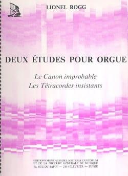 2 Etudes - Lionel Rogg - Partition - Orgue - laflutedepan.com