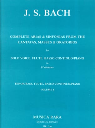 Complete arias and sinfonias from the cantatas, masses, oratorios Volume 8 - laflutedepan.com