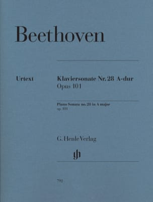 BEETHOVEN - Sonate Pour Piano N° 28 En la Majeur Opus 101 - Partition - di-arezzo.fr
