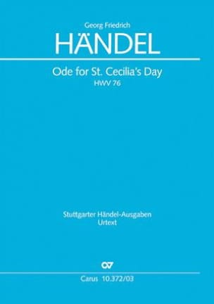 Georg-Friedrich Haendel - Ode For St. CeciliaS Day HWV 76 - Partition - di-arezzo.fr