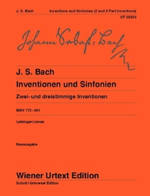 BACH - Inventions A Two and Three Voices. New edition - Sheet Music - di-arezzo.co.uk