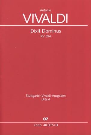 VIVALDI - Dixit Dominus RV 594 - Partition - di-arezzo.fr