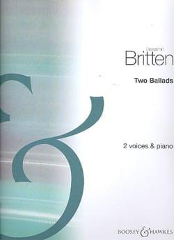2 Ballads Benjamin Britten Partition Duos - laflutedepan