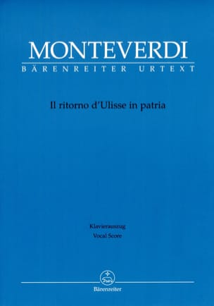 Claudio Monteverdi - Il Ritorno D'Ulisse In Patria - Partition - di-arezzo.fr