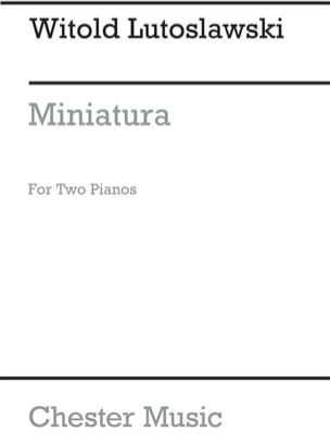 Miniatura. 2 Pianos. Archive LUTOSLAWSKI Partition laflutedepan