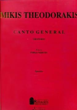 Canto General THEODORAKIS Partition Chœur - laflutedepan