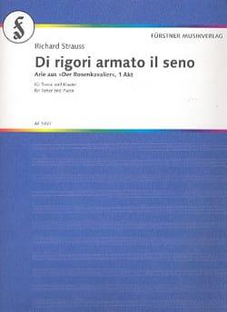Richard Strauss - Di Rigori Armato il Sero. Der Rosenkavalier - Partition - di-arezzo.fr